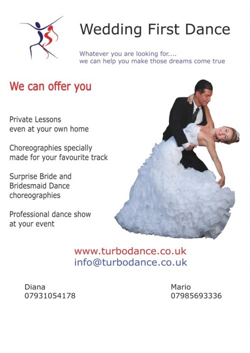 wedding first dance leaflet